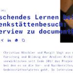 documents and education: Vorbereitung von Gedenkstättenexkursionen